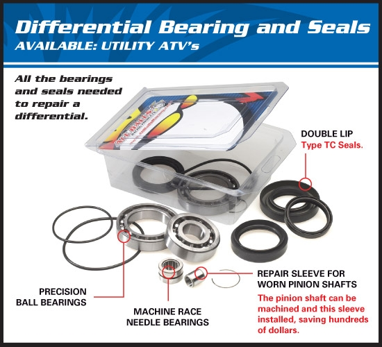 AllBalls Differenzial Lager/Dichtungs Kit vorne/hinten Differential Bearing and Seal Kit front/rear Passend f. siehe DropDown Auswahl
